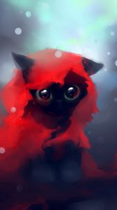 Preview wallpaper cat, drawing, art, apofiss