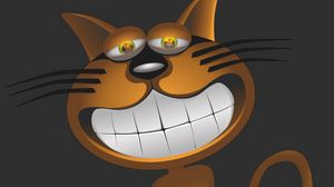 Preview wallpaper cat, smile, funny, caricature