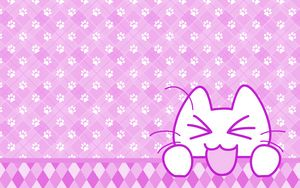 Preview wallpaper cat, protruding tongue, funny, art, vector