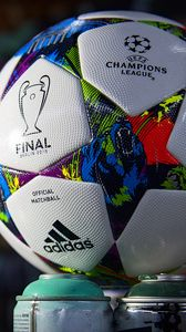 Preview wallpaper champions league, 2015, barcelona, juventus, ball, football