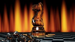 Preview Wallpaper Chess Game Board Pieces Light