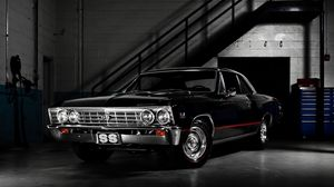 Preview wallpaper chevrolet, black, stylish, auto