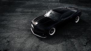 Preview wallpaper chevrolet, camaro, zl1, matt, black