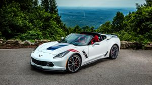 Preview wallpaper chevrolet, corvette, stingray, coupe, c7, cabriolet