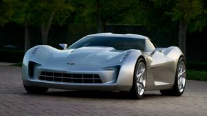 Preview wallpaper chevrolet, corvette, stingray, gray, cars
