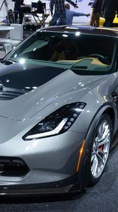 Preview wallpaper chevrolet, corvette, stingray, supercar, z06, detroit
