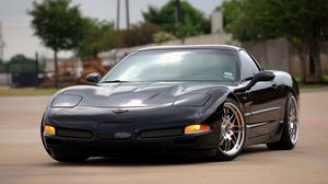 Preview wallpaper chevrolet, corvette, z06, black