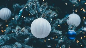 Preview wallpaper christmas ball, christmas decorations, jewelery