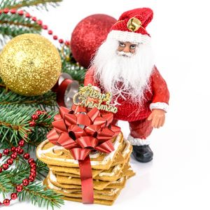 Preview wallpaper christmas, new year, santa claus, fir-tree, decorations, cookies