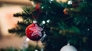 Preview wallpaper christmas toy, ball, christmas, new year, decoration
