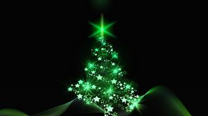 preview wallpaper christmas tree christmas new year art