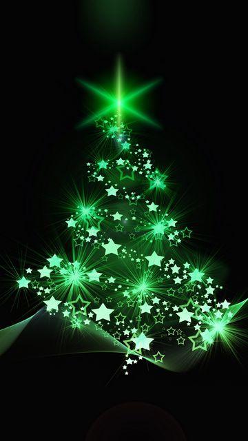 360x640 Wallpaper christmas tree, christmas, new year, art