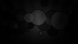 Preview wallpaper circles, background, grid, black white, dark
