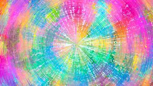 Preview wallpaper circles, colorful, arrows, rotation