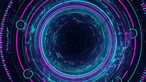Preview wallpaper circles, glow, backlight, blue, purple, art