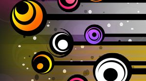 Preview wallpaper circles, patterns, colorful, lines
