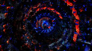 Preview wallpaper circles, rotation, red, blue, twisted, spiral