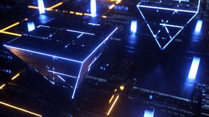 Preview wallpaper circuit, processor, chip, pyramid