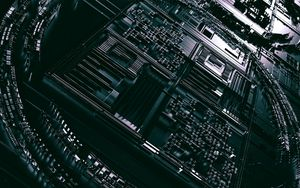 Preview wallpaper circuit, processor, chip, 3d