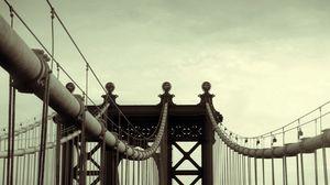 Preview wallpaper city, bridge, sky, huge