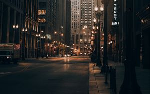 Preview wallpaper city, road, street, buildings, cars