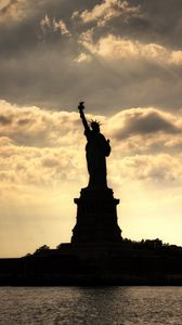 Preview wallpaper city, statue, statue of liberty, new york