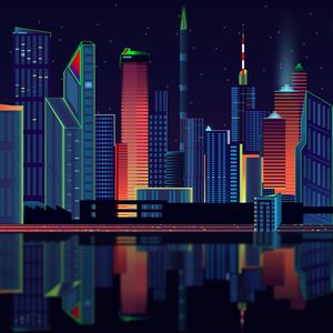 Preview wallpaper city, vector, panorama