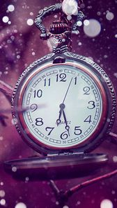 Preview wallpaper clock, time, lilac