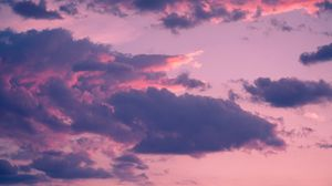 Preview wallpaper clouds, porous, sky, sunset