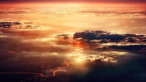 Preview wallpaper clouds, sky, porous, sunlight