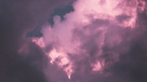 Preview wallpaper clouds, sky, purple, shade, atmosphere