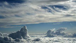 Preview wallpaper clouds, sky, summer