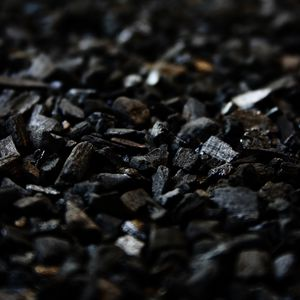 Preview wallpaper coal, carbon, black, stones