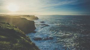 Preview wallpaper coast, sea, cliff