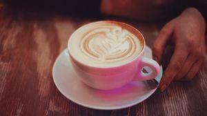 Preview wallpaper coffee, cappuccino, cinnamon