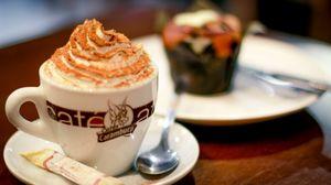 Preview wallpaper coffee, cappuccino, foam, cream, cinnamon