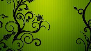 Preview wallpaper colors, patterns, black, green
