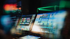 Preview wallpaper control panel, monitor, equipment, technology, light, dark