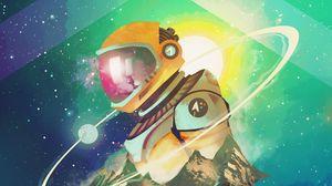 Preview wallpaper cosmonaut, astronaut, art, space, stars