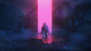 Preview wallpaper cosmonaut, space suit, art, space, imagination