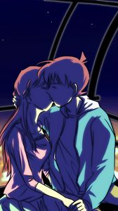 Preview wallpaper couple, kiss, art, love, anime