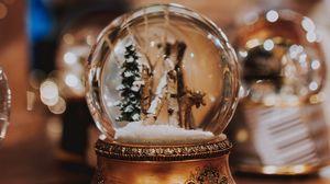 Preview wallpaper crystal ball, ball, glass, new year, christmas