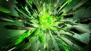Preview wallpaper crystals, debris, explosion, light