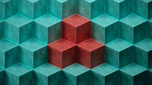 Preview wallpaper cube, cubes, shapes, relief
