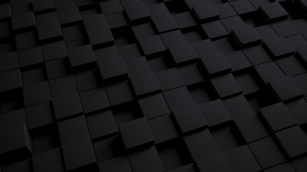 Wallpaper cube, dark, texture, shape