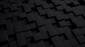 Preview wallpaper cube, dark, texture, shape