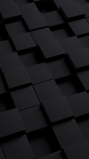 360x640 Wallpaper cube, dark, texture, shape