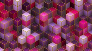 Preview wallpaper cubes, colorful, pink, purple, shapes