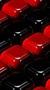Preview wallpaper cubes, red, black, 3d