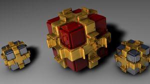 Preview wallpaper cubes, form, light